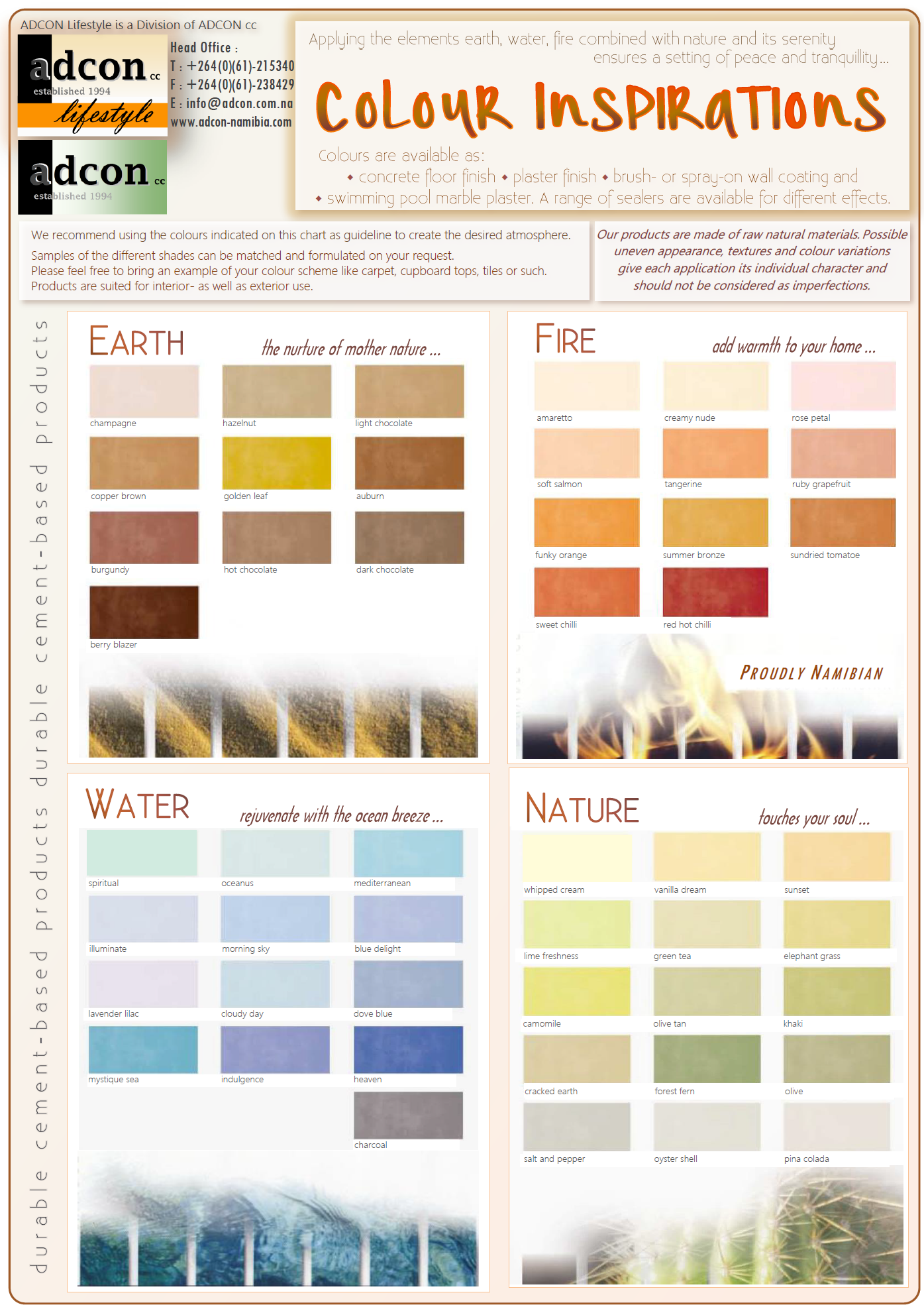 Adcon lifestyle colour chart adcon adcon lifestyle colour chart geenschuldenfo Choice Image